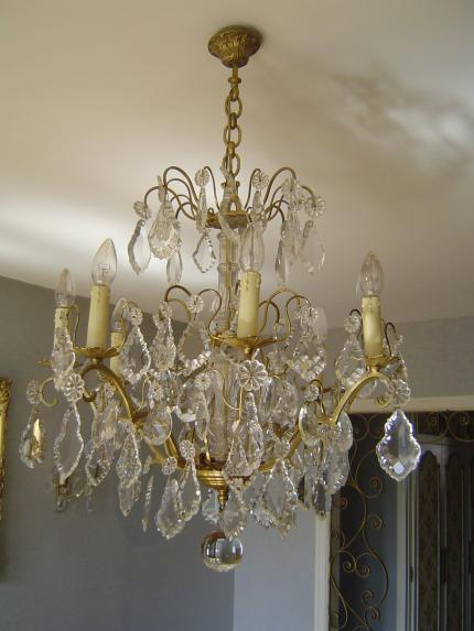 LUSTRE LOUIS XV suite a debarras succession 78 chatou